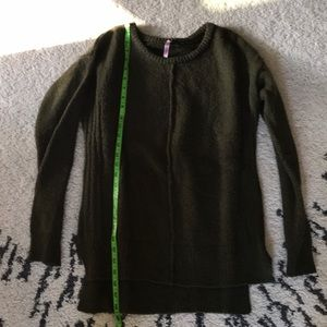 Olive green cozy sweater